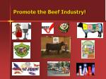 promote the beef industry