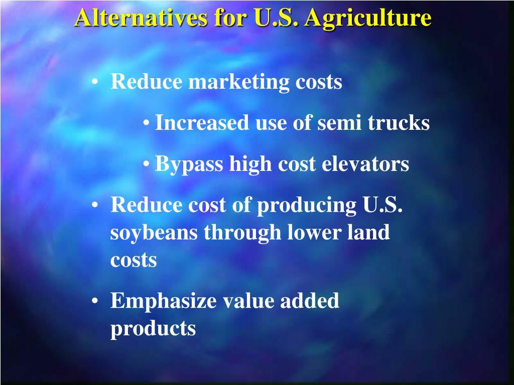 Alternatives for U.S. Agriculture