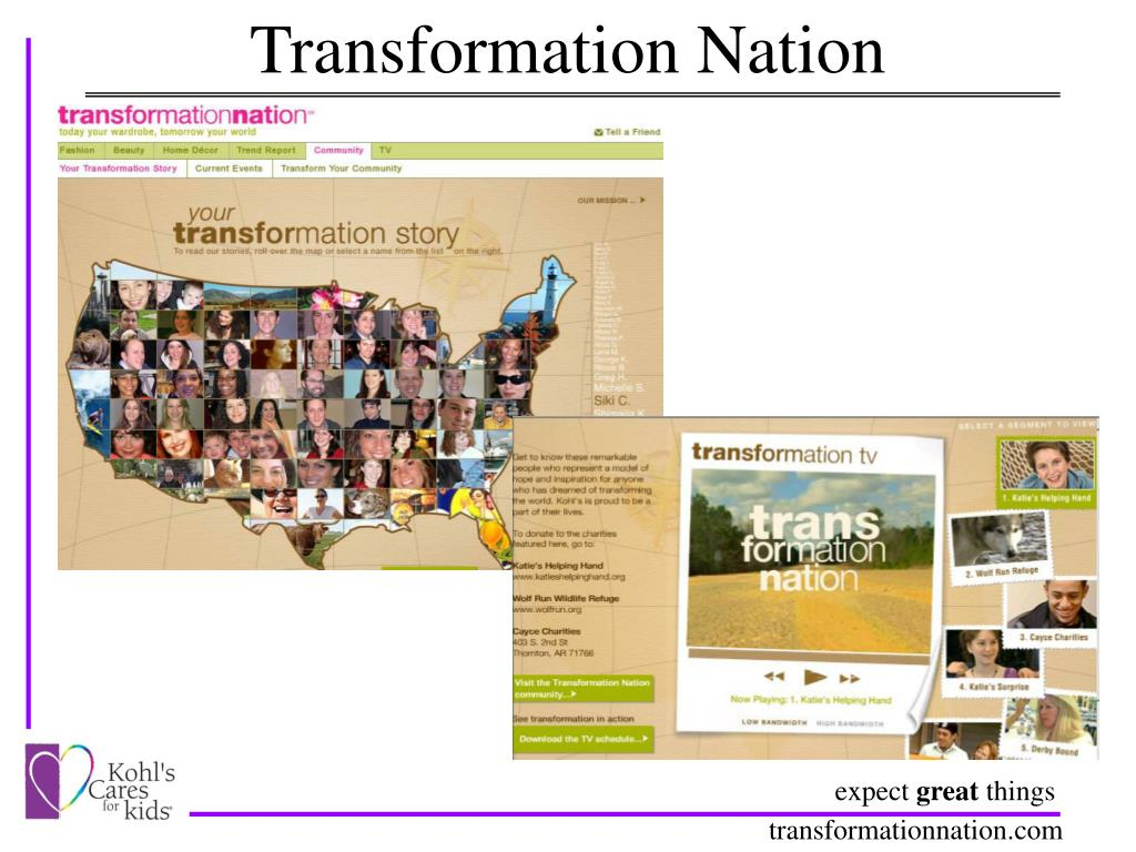 my transformation transforms nation