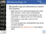 db security bugs 1 3