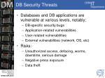db security threats
