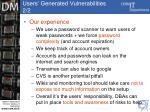 users generated vulnerabilities 2 2