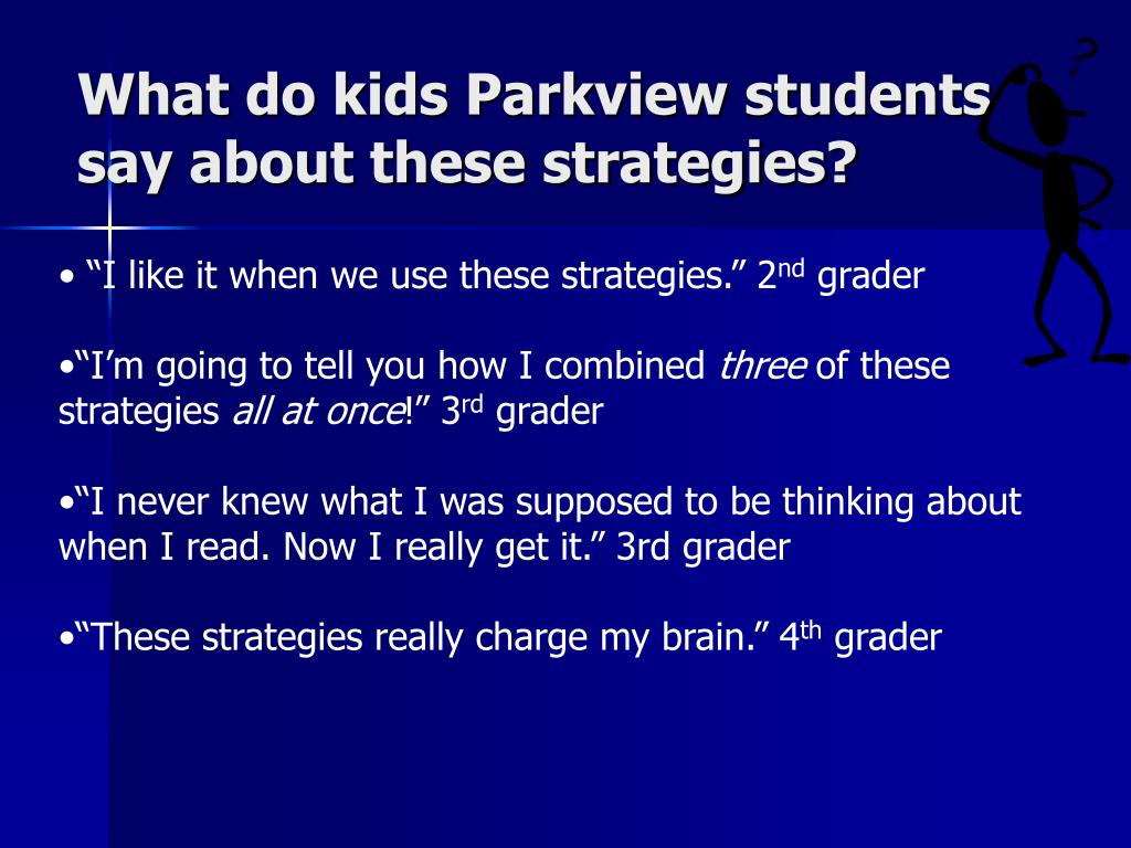 What do kids Parkview students say about these strategies?