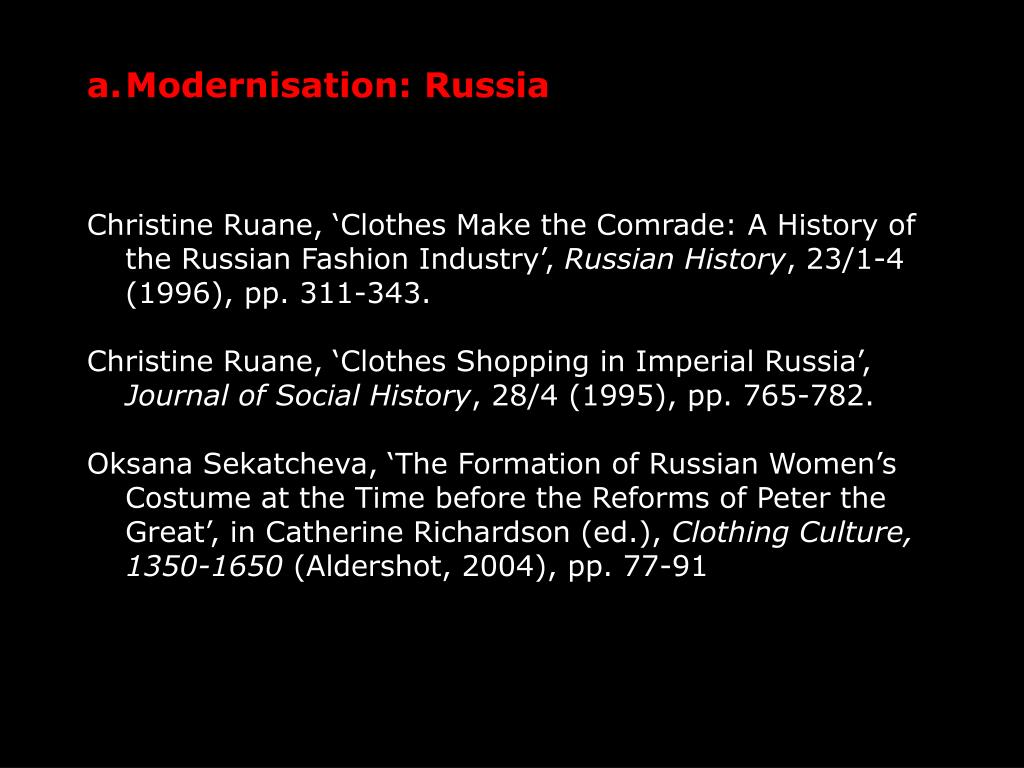 Modernisation: Russia