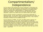 compartmentalism independence20