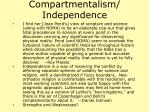 compartmentalism independence21