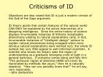 criticisms of id38