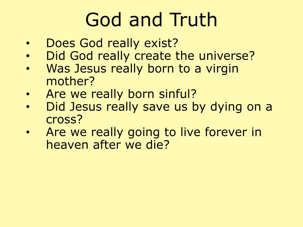 God and Truth
