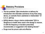 statutory provisions
