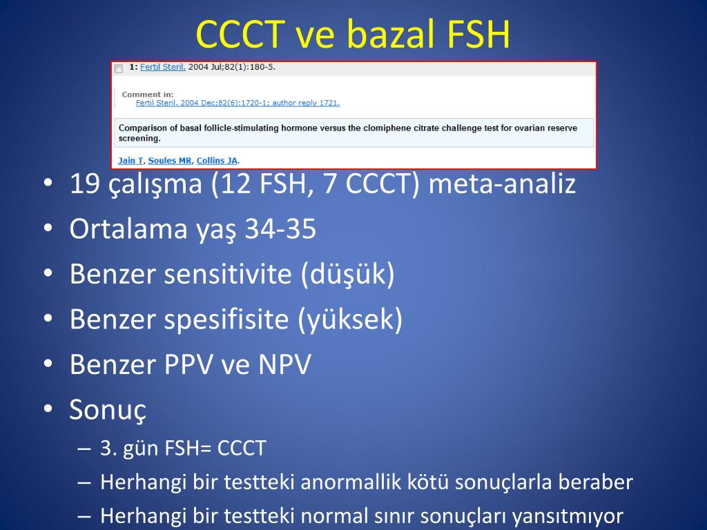 CCCT ve bazal FSH