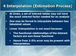 4 interpolation estimation process