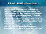 7 basic sensitivity analysis62