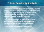 7 basic sensitivity analysis63