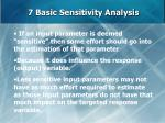 7 basic sensitivity analysis64