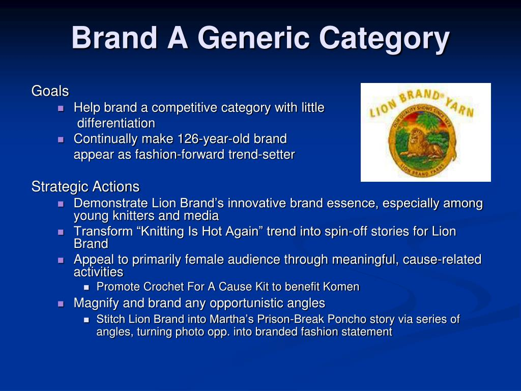 Brand A Generic Category