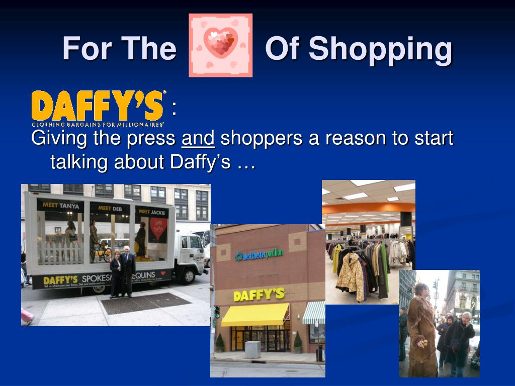 For The          Of Shopping