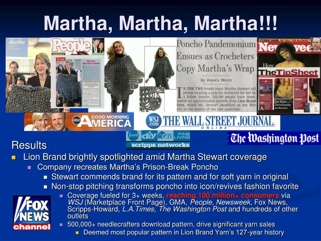 Martha, Martha, Martha!!!