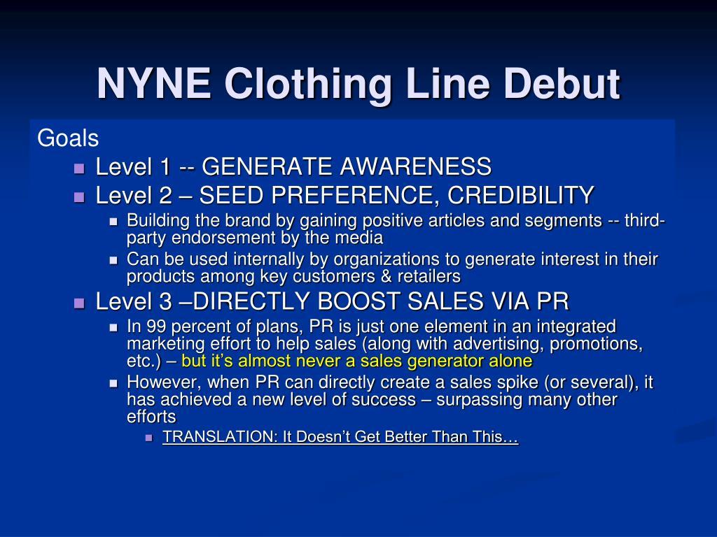 NYNE Clothing Line Debut