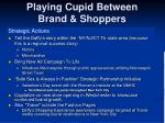 playing cupid between brand shoppers