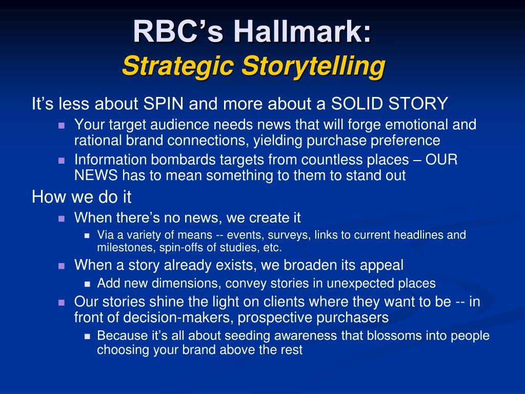 RBC's Hallmark:
