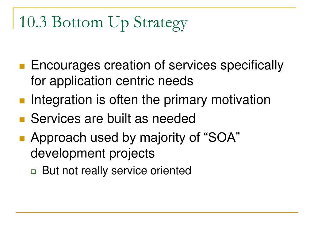 10.3 Bottom Up Strategy