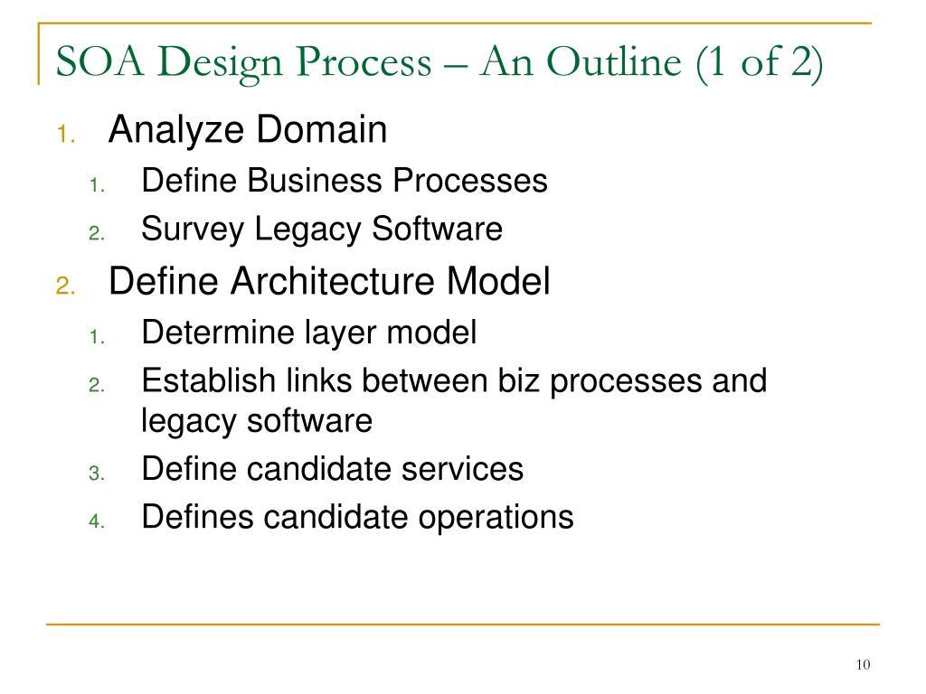 SOA Design Process – An Outline (1 of 2)