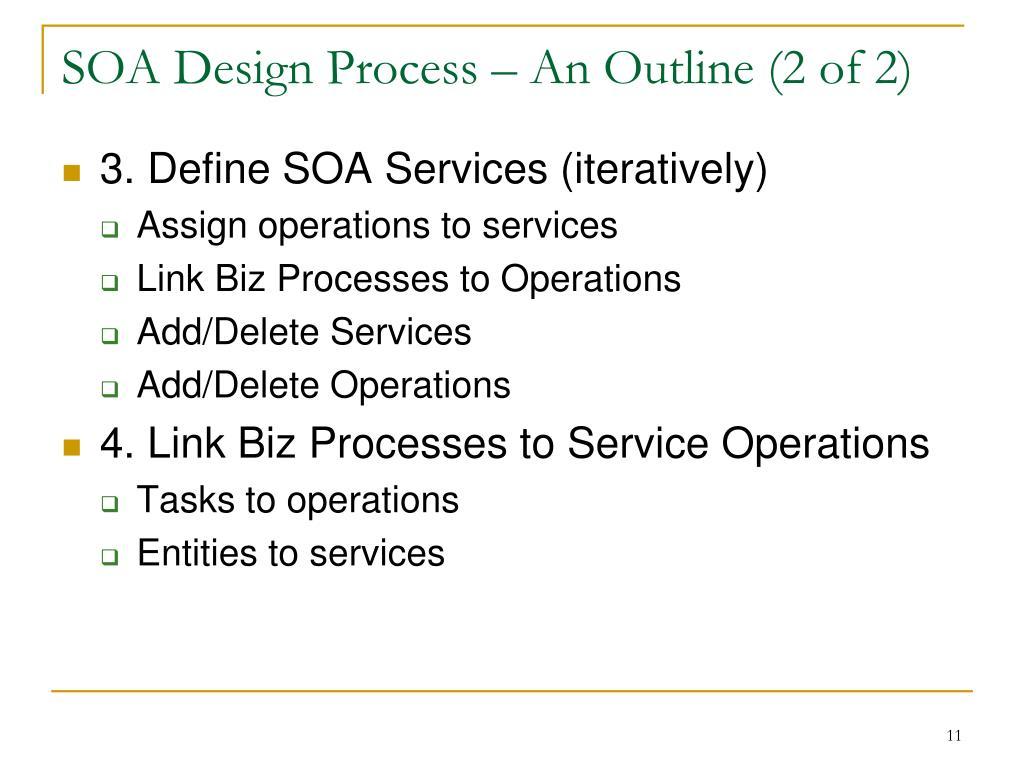 SOA Design Process – An Outline (2 of 2)