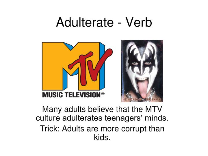 Adulterate verb