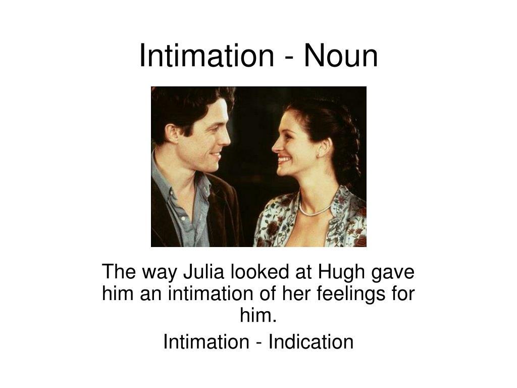 Intimation - Noun