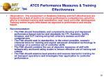 atcs performance measures training effectiveness