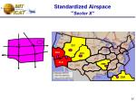 standardized airspace sector x