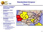 standardized airspace sector x36