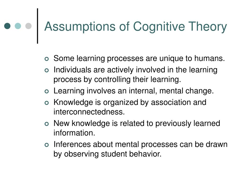 Assumptions of Cognitive Theory