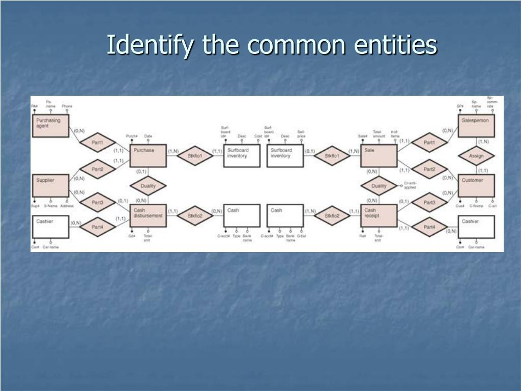 Identify the common entities