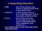 categorizing diarrhea