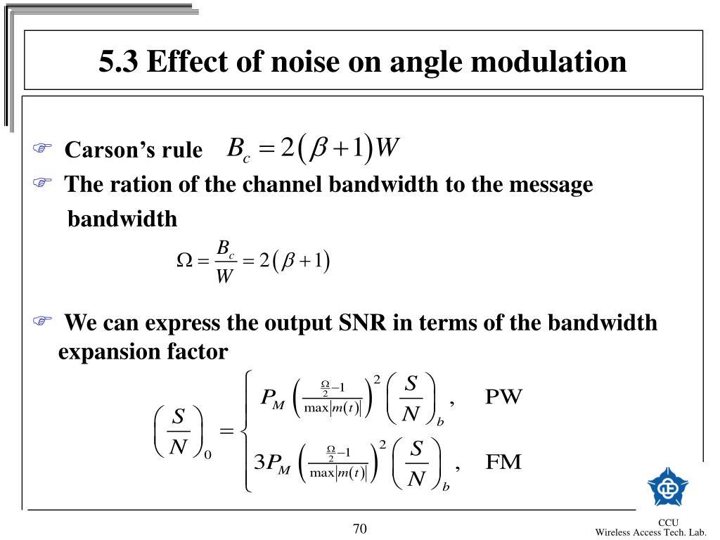 5.3 Effect of noise on angle modulation