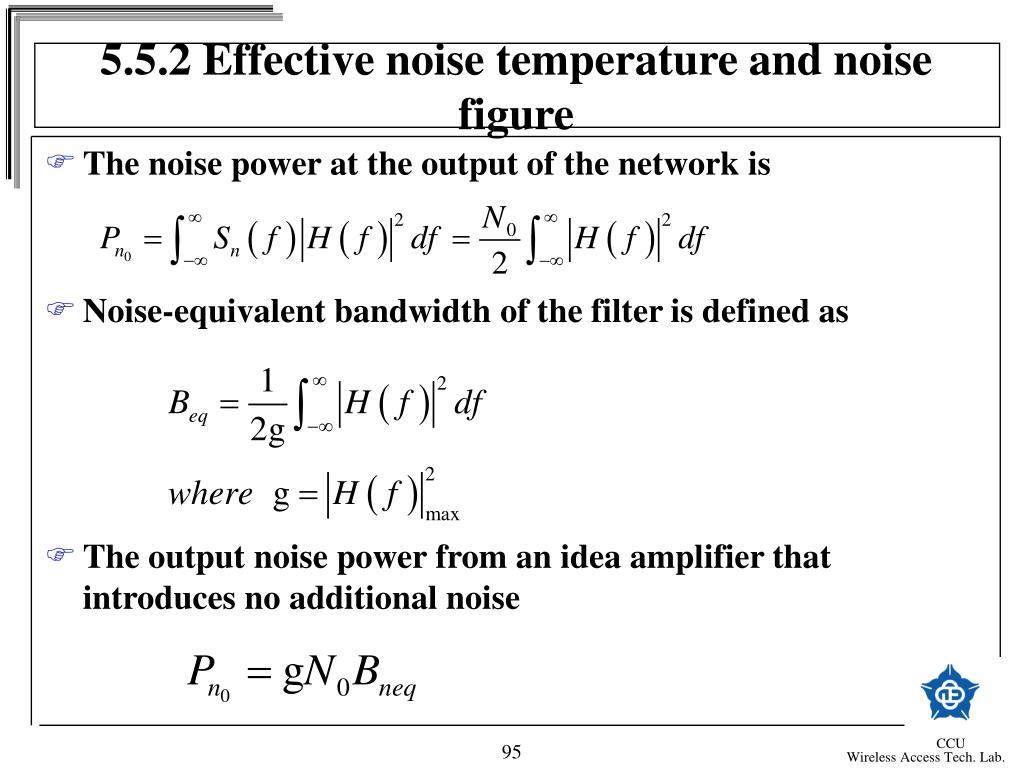 5.5.2 Effective noise temperature and noise figure