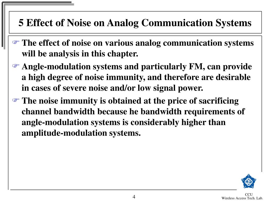 5 Effect of Noise on Analog Communication Systems
