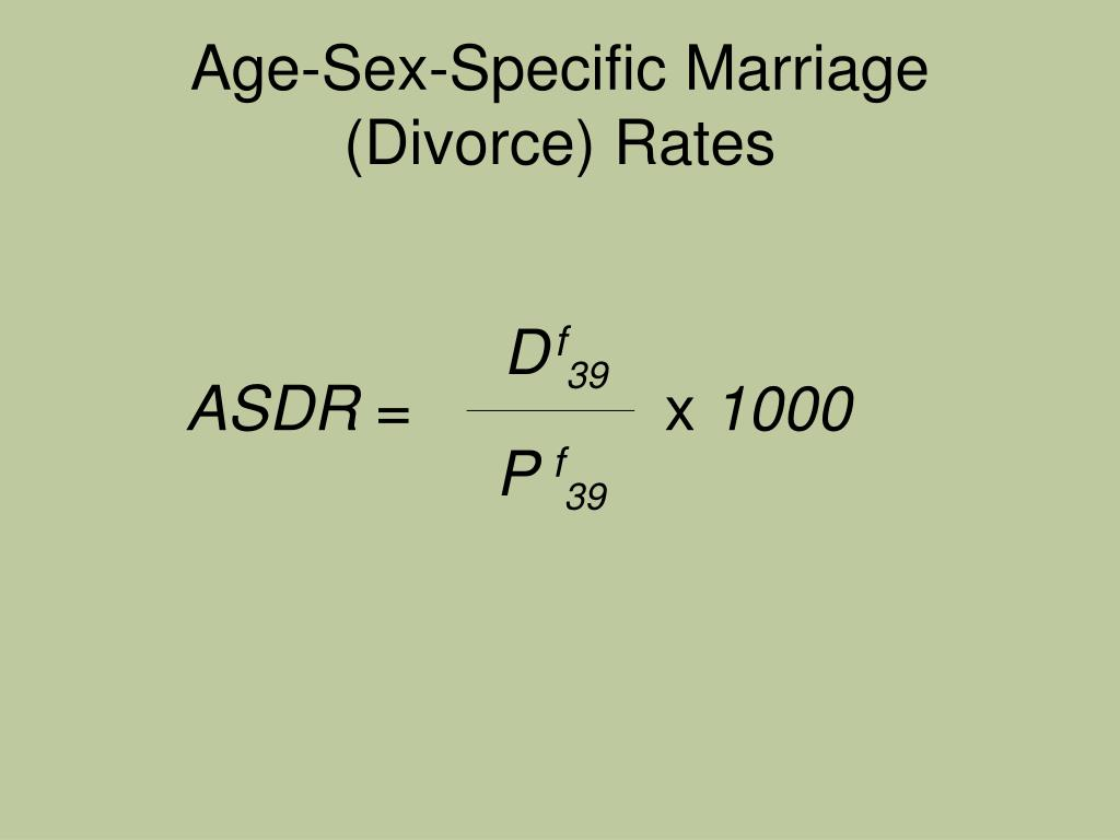 Age-Sex-Specific Marriage (Divorce) Rates