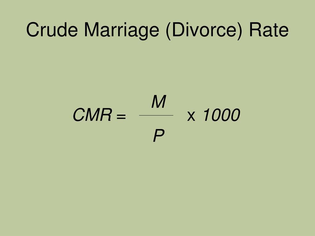 Crude Marriage (Divorce) Rate