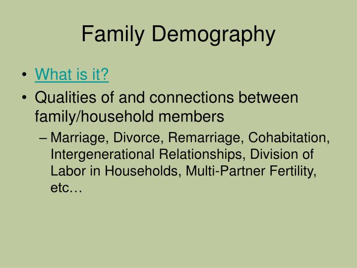Family demography2