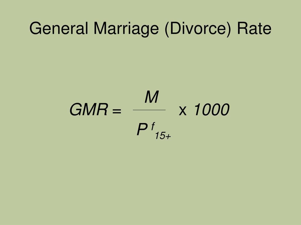 General Marriage (Divorce) Rate