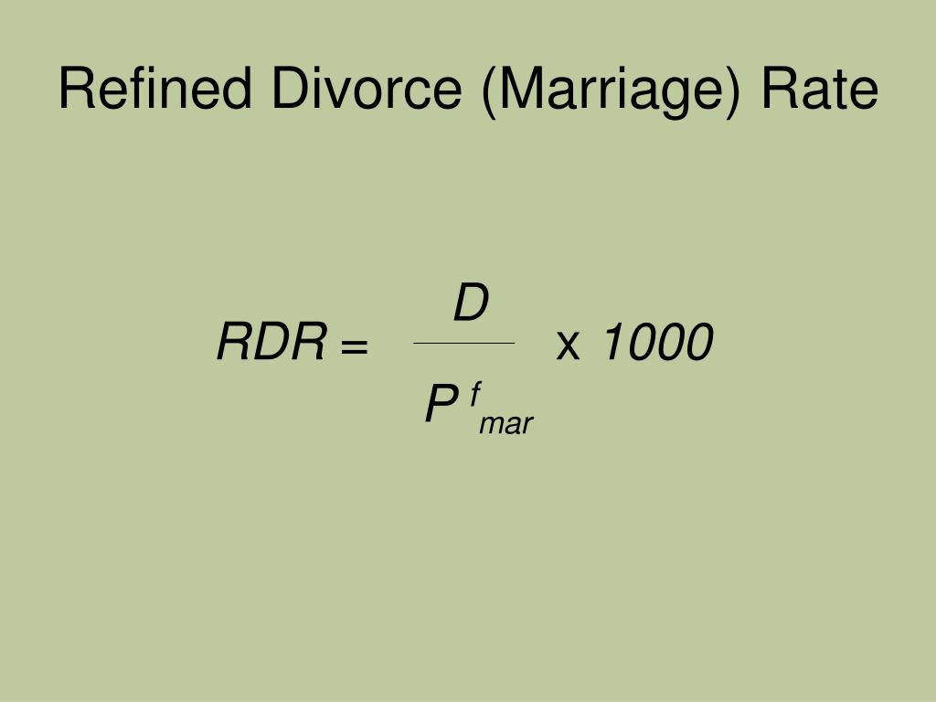 Refined Divorce (Marriage) Rate