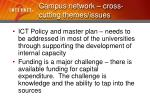 campus network cross cutting themes issues