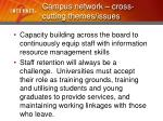 campus network cross cutting themes issues12