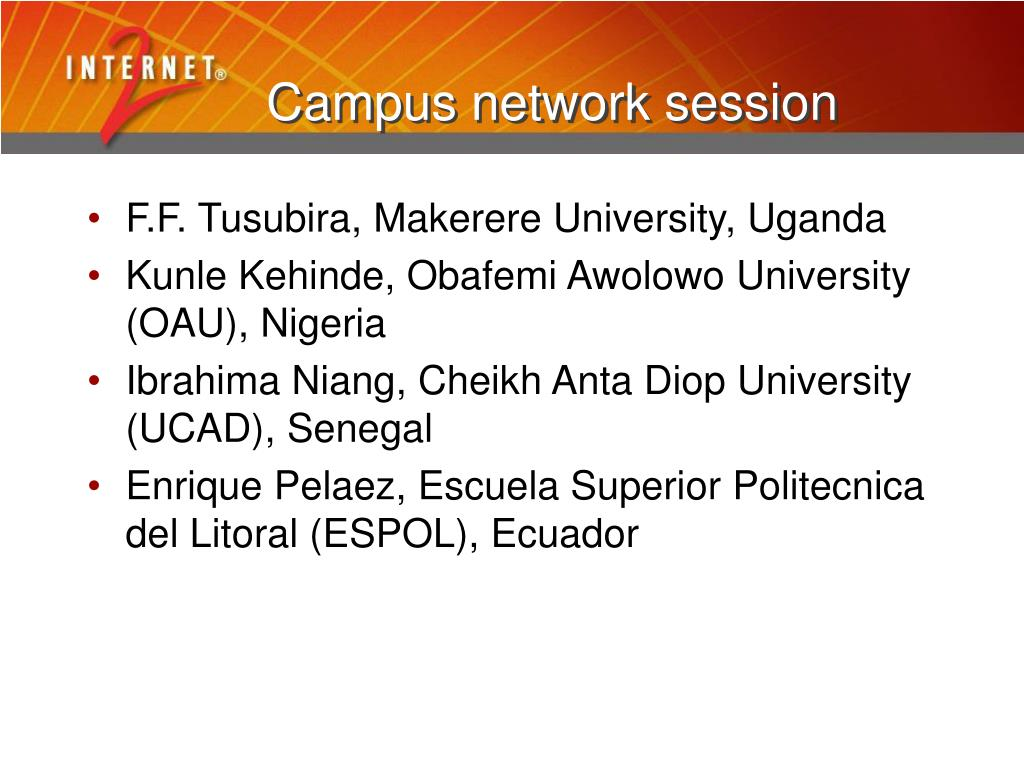 Campus network session