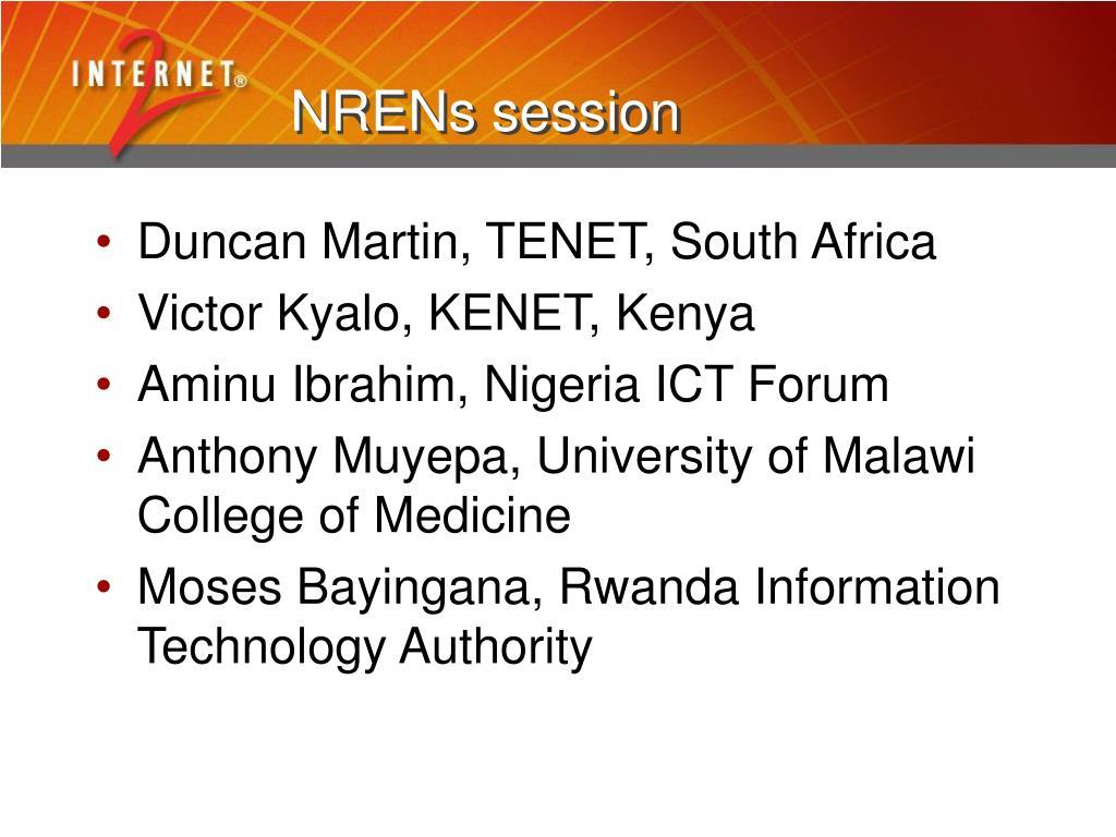 NRENs session