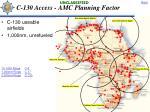 c 130 access amc planning factor