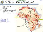 c 17 access afpam 10 1403 load