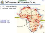 c 17 access amc planning factor